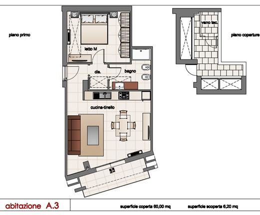 Appartamento in vendita a Matino, 3 locali, prezzo € 85.000 | CambioCasa.it
