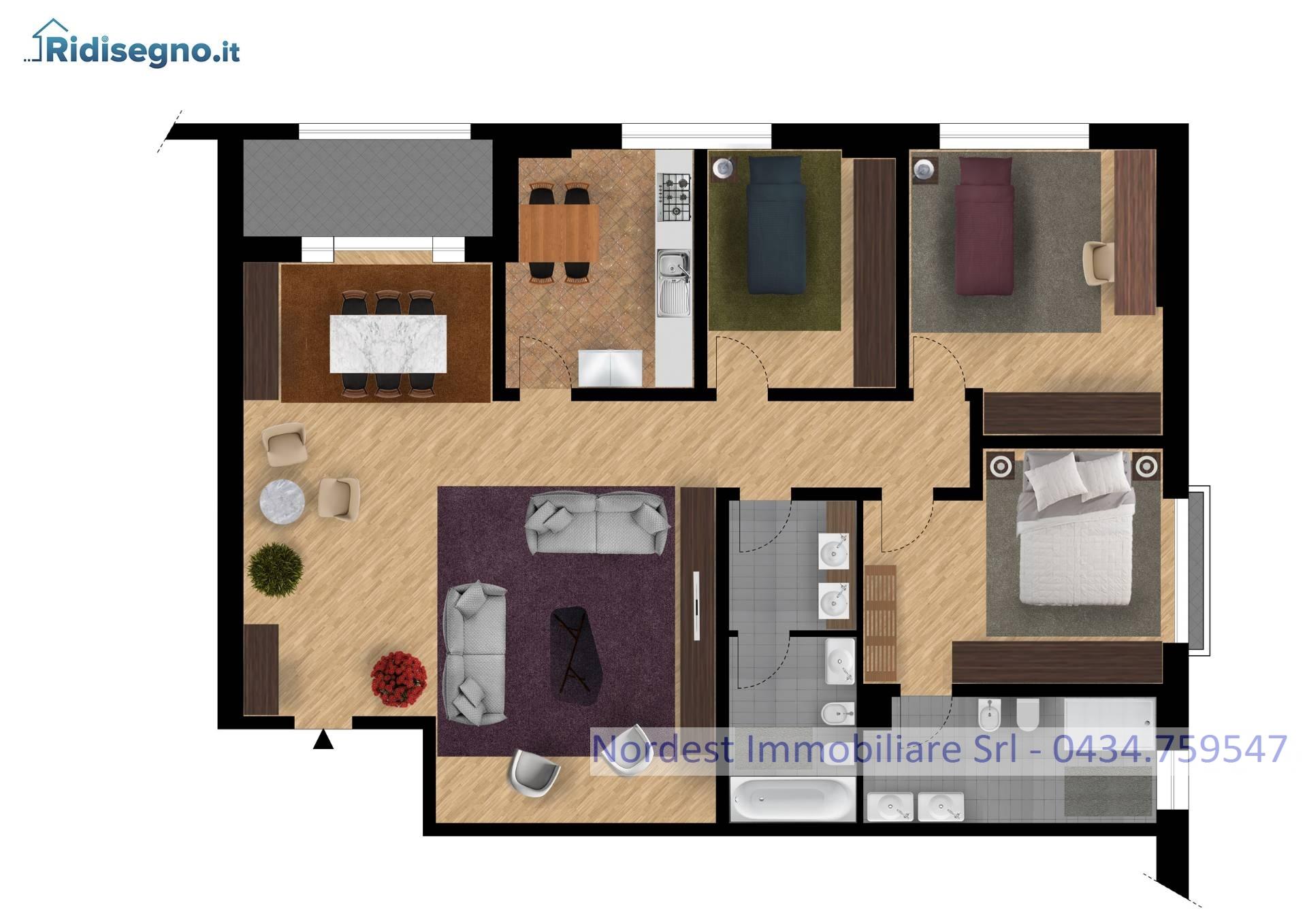 Appartamento in vendita a Gaiarine, 7 locali, prezzo € 135.000 | CambioCasa.it