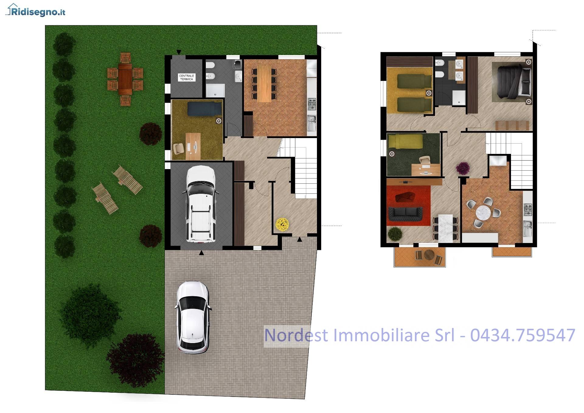 Villa Bifamiliare in vendita a Gaiarine, 5 locali, prezzo € 175.000 | CambioCasa.it