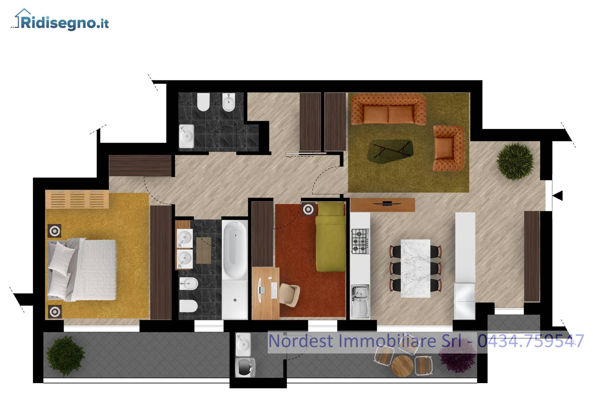 Appartamento in vendita a Codognè, 5 locali, prezzo € 159.650   CambioCasa.it