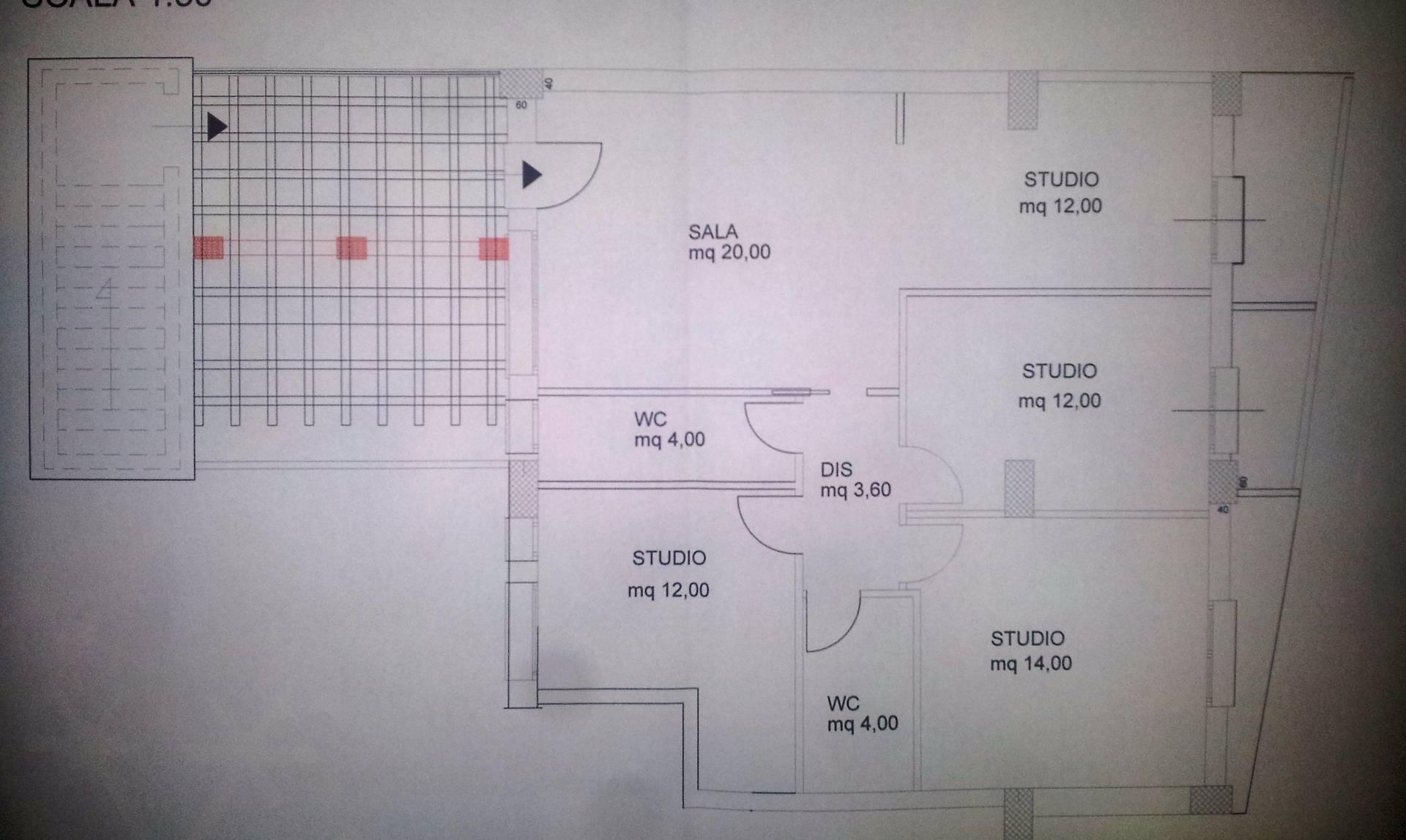Ufficio / Studio in affitto a Cosenza, 9999 locali, zona Località: VialeMancini, prezzo € 500 | Cambio Casa.it