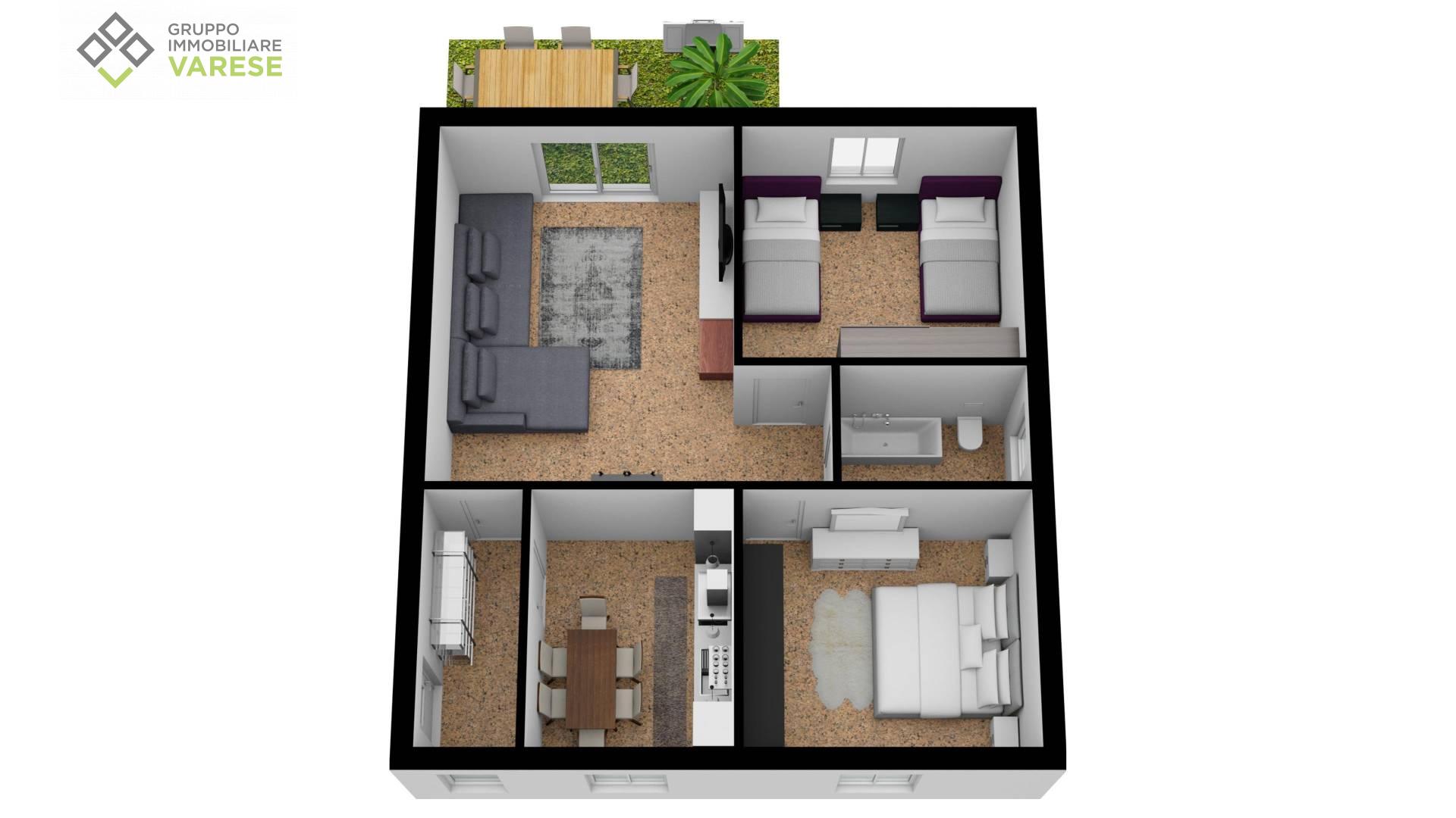 Appartamento in vendita a Comerio, 3 locali, prezzo € 106.000 | CambioCasa.it