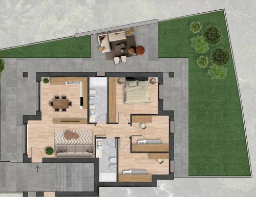 Appartamento con giardino in Vendita a Osio Sotto
