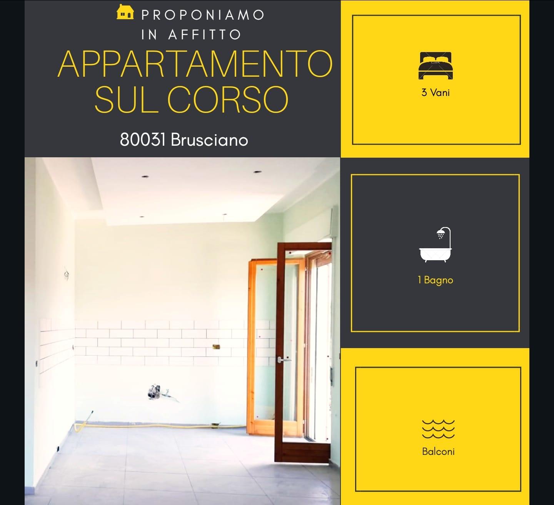 Appartamento in affitto a Brusciano, 3 locali, prezzo € 450   CambioCasa.it