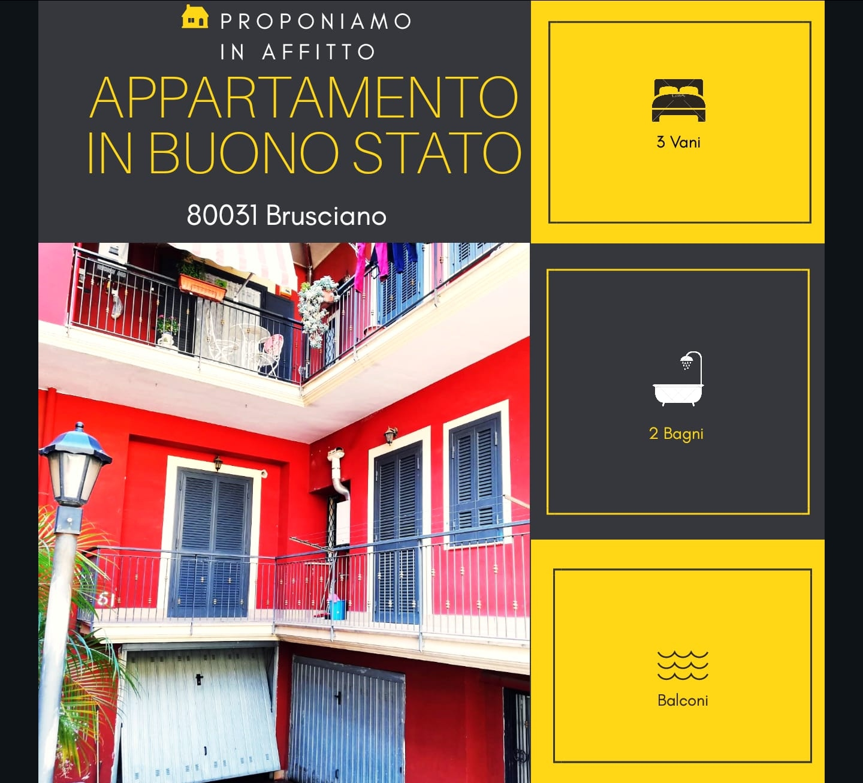 Appartamento in affitto a Brusciano, 3 locali, prezzo € 500   CambioCasa.it