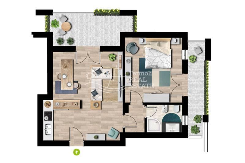 Appartamento in vendita a Termoli, 2 locali, zona Località: CasalaCroce-DifesaGrande, prezzo € 110.000 | CambioCasa.it
