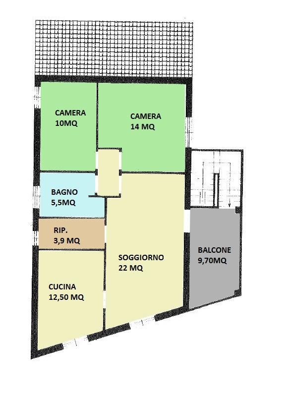 Appartamento in vendita a Argenta, 3 locali, zona Località: CENTRO, prezzo € 85.000 | CambioCasa.it