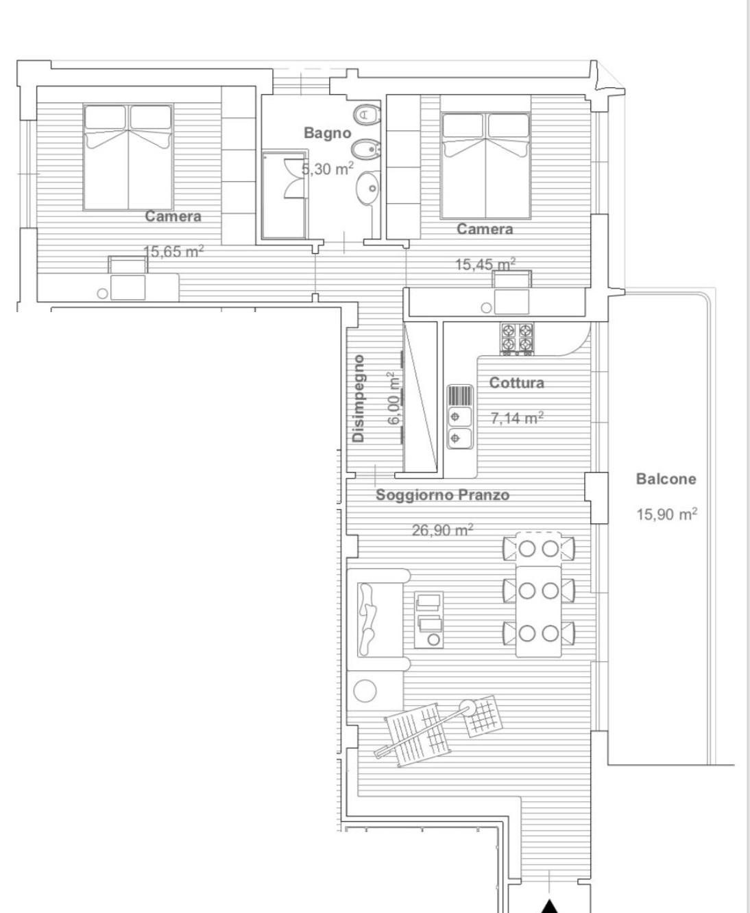 vendita appartamento camaiore lido di camaiore  270000 euro  4 locali  98 mq