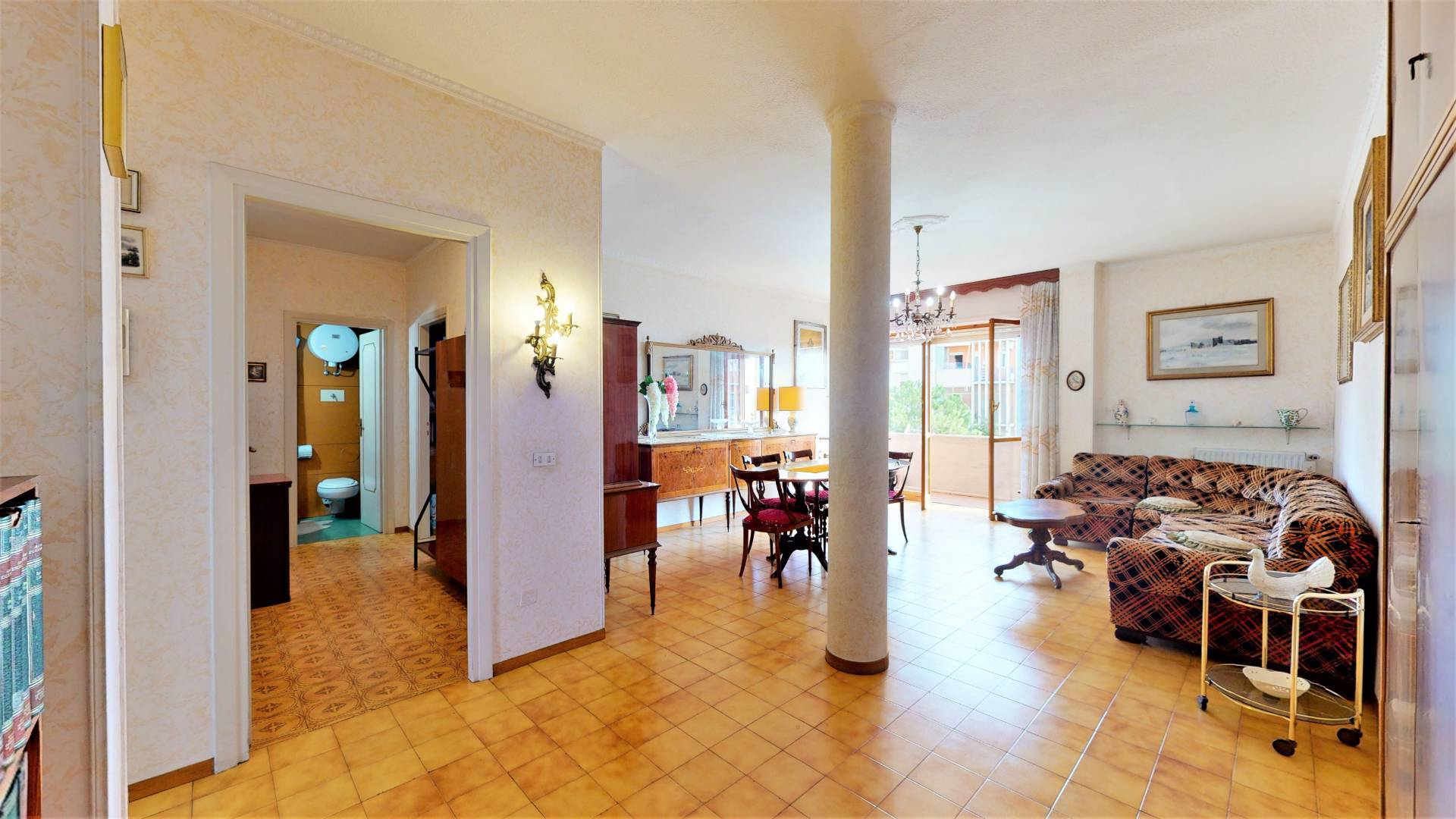 1118420461 Trilocale in Via Romolo Balzani, Roma, Zona Villa De Santis
